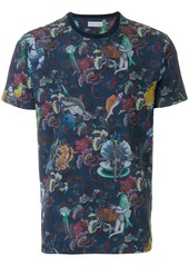 Etro floral printed fitted T-shirt - Blue