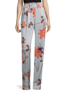 Floral Satin Pants