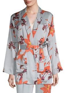 Etro Floral Satin Robe Jacket