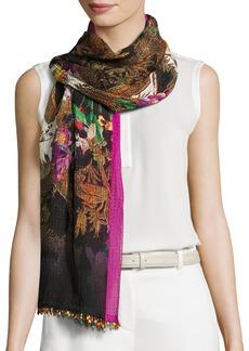 Etro Floral Silk Jacquard Scarf