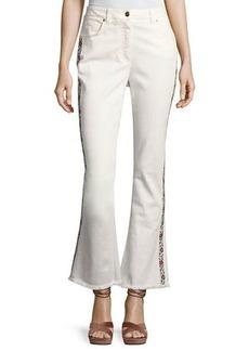 Etro Floral-Trim Flare-Leg Jeans