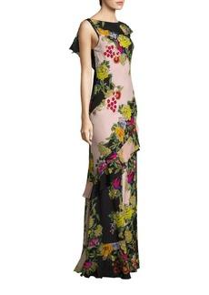 Etro Floral V-Back Gown