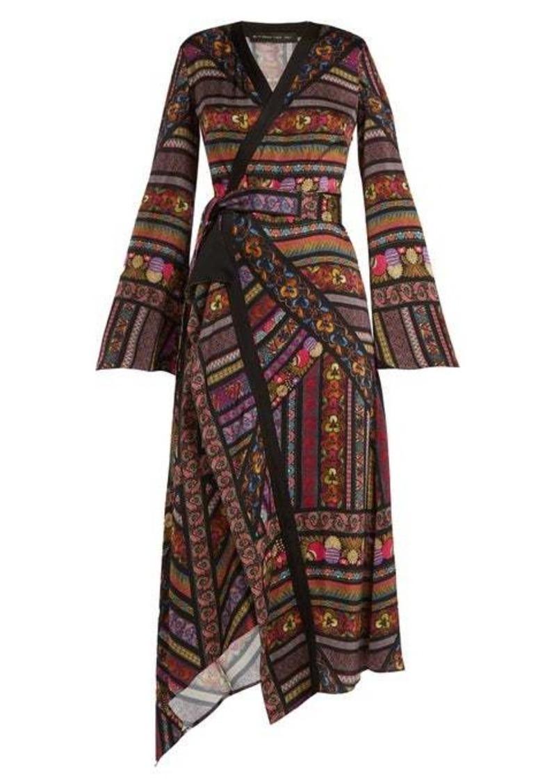Etro Fluorite printed crepe dress