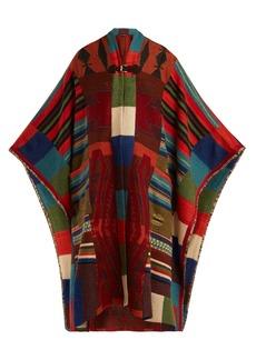 Etro Fringed geometric jacquard-knit cardigan