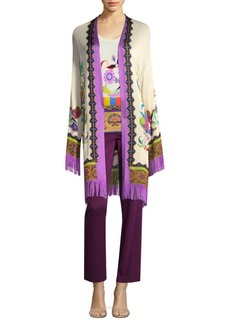 Etro Fringed Knit Cardigan