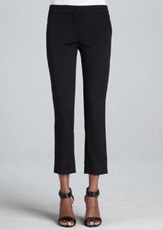 Etro Front-Closure Slim Ankle Pants, Black