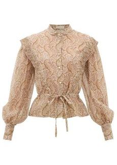 Etro Gardenia paisley-print cotton-blend blouse