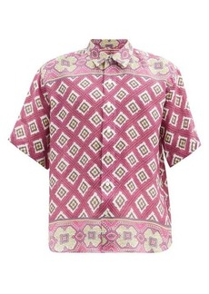 Etro Geometric and floral-print linen shirt