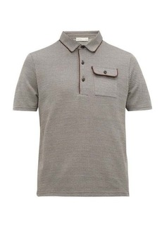 Etro Geometric jacquard-knit cotton polo shirt