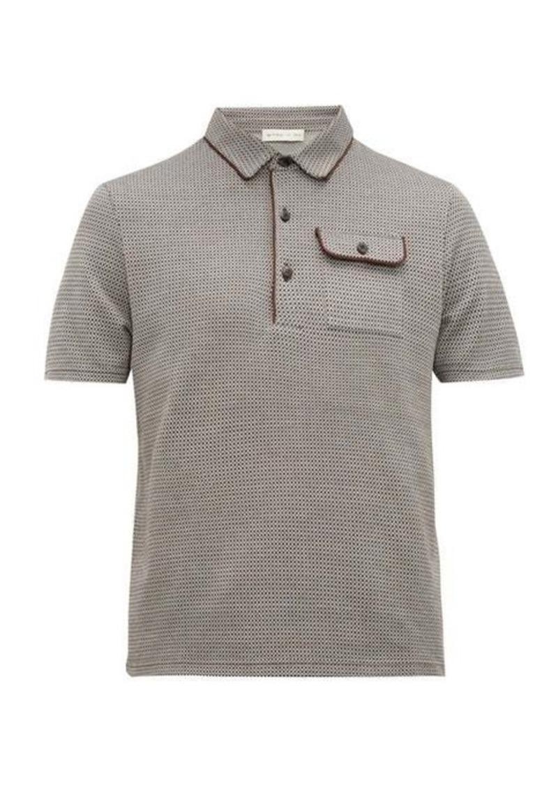 Etro Geometric jacquard-knit cotton polo shirt