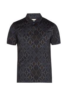 Etro Geometric-jacquard polo shirt