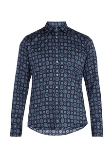Etro Geometric-print cotton shirt