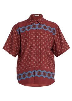 Etro Geometric-print silk shirt