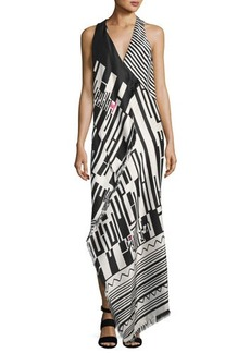 Etro Geometric-Print Sleeveless Gown