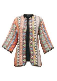 Etro Giglio kimono-sleeve stripe-jacquard jacket