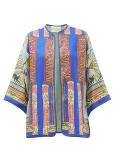 Etro Giglio scarf-print silk jacket