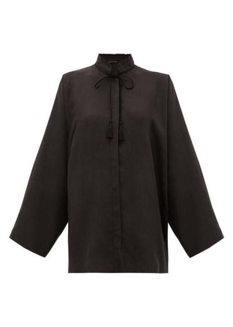 Etro Girasole tasselled-tie silk blouse