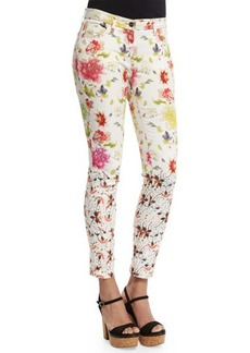 Etro Gradation-Floral Skinny Jeans