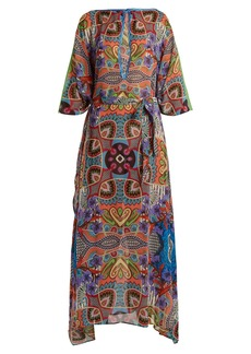 Etro Graphic floral-print silk chiffon dress