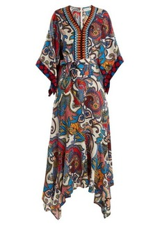 Etro Graphic paisley-print embroidered silk dress