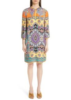 Etro Harlem Paisley Print Cloqué Tunic Dress