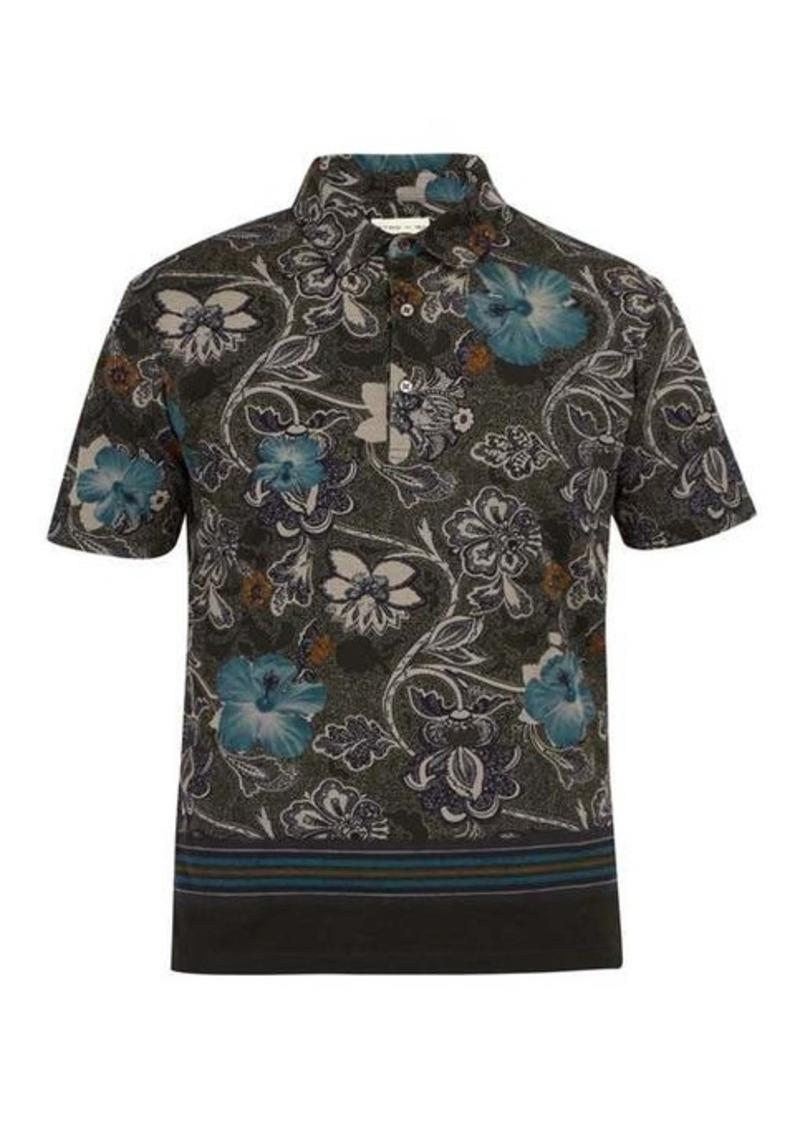 Etro Hawaiian paisley-print cotton-piqué polo shirt