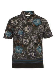 Etro Hawaiian paisley-print cotton-piqué polo shirt