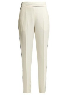 Etro High-rise crepe trousers