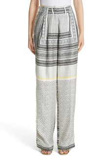Etro High Waist Silk Twill Pants