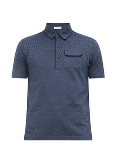 Etro Jacquard-knit cotton polo shirt