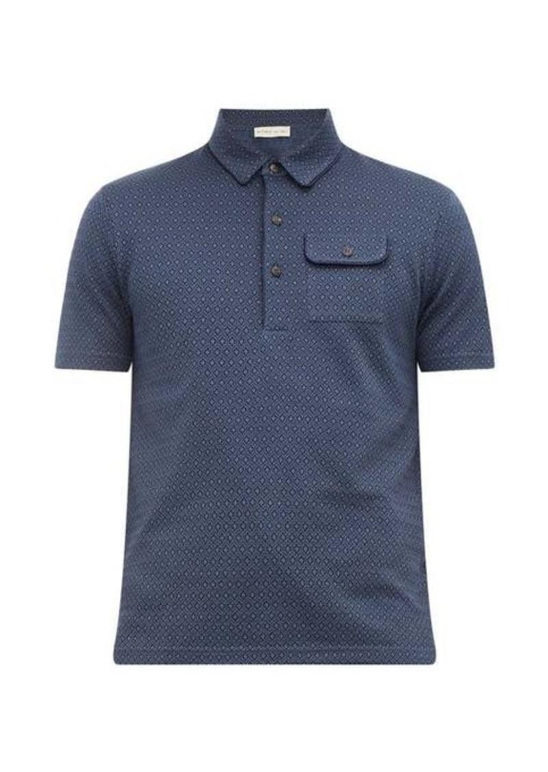 Etro Jacquard-knit cotton polo shirt
