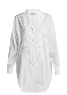 Etro Jade sequin-embellished cotton shirt