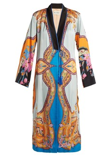 Etro Jasper paisley and floral-print crepe coat
