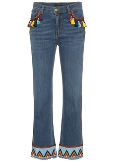 Etro jeans with tassels and embroidery - Blue