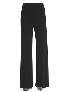 Etro Jersey Crepe Side-Zip Wide-Leg Pants