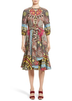 Etro Jungle Paisley Print Cotton Dress