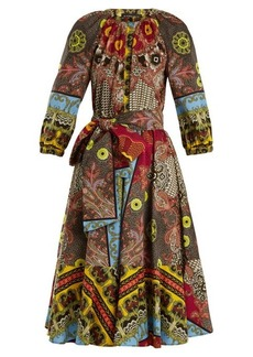 Etro Jungle-print puff-sleeved cotton dress