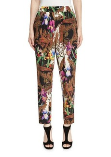 Etro Jungle-Print Pull-On Pants