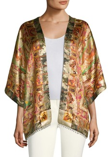 Etro 50th Anniversary Kesa Printed Silk Cardigan