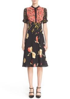 Etro 'Kimono' Floral Print Silk Dress