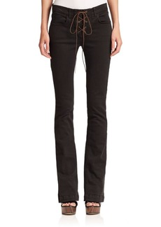 Etro Lace-Up Flared Jeans