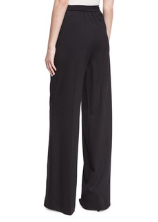 Largo Wool High-Waist Wide-Leg Pants