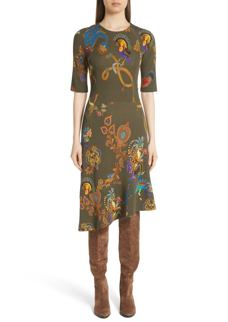 fc5038179 Etro Etro Lemur Print Asymmetrical Dress