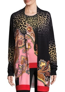 Etro Leopard Stampa Cardigan