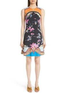 Etro Lily Print Cady A-Line Dress