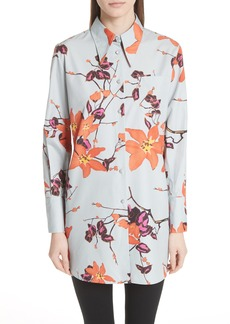 Etro Lily Print Poplin Shirt