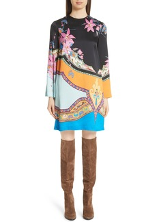 Etro Lily Print Shift Dress