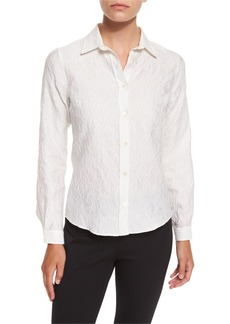 Etro Long-Sleeve Matelasse Blouse