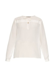 Etro Long-sleeved silk crepe blouse