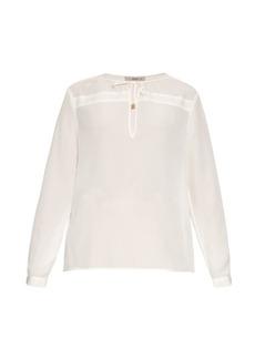 Etro Long-sleeved silk crepe blouse